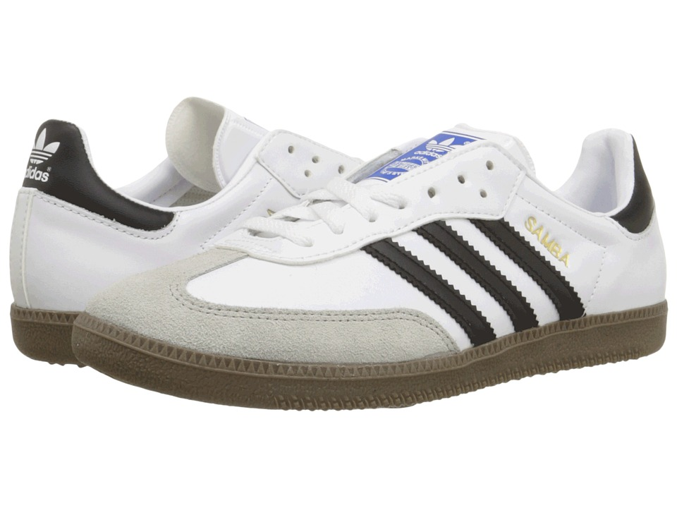 adidas Originals - Samba Leather (White/Black) Classic Shoes