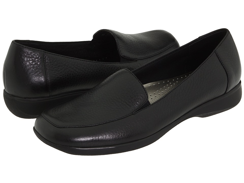 Trotters - Jenn (Black Soft Tumbled) Women's Slip on  Shoes
