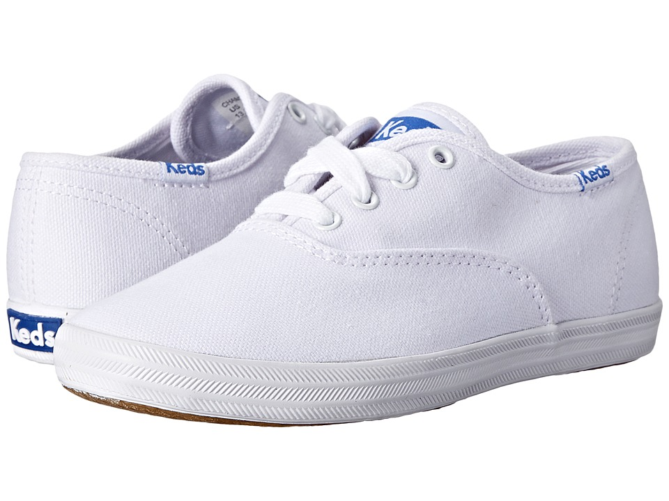 Keds Kids - Original Champion CVO (Little Kid/Big Kid) (White Canvas) Girls Shoes