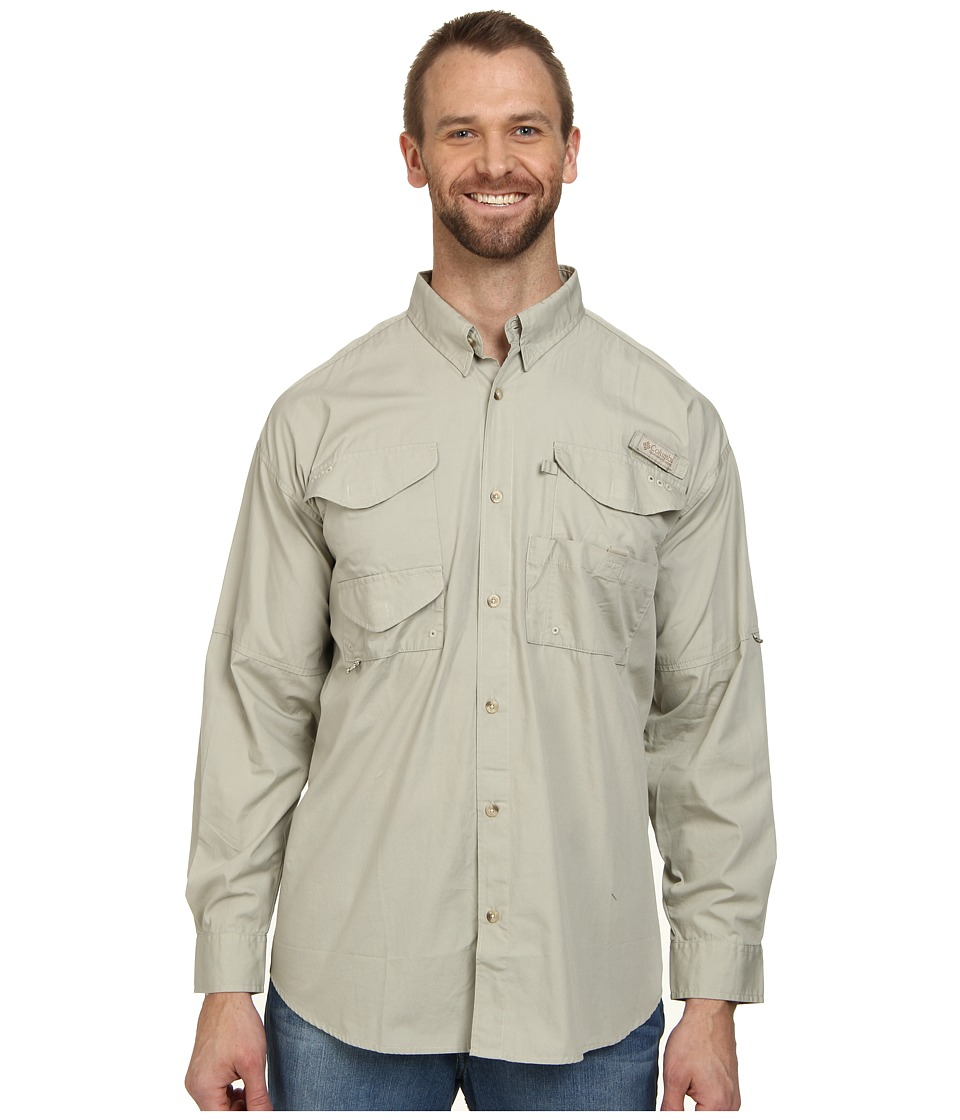 Columbia - Big Tall Boneheadtm L/S Shirt (Fossil) Mens Long Sleeve Button Up