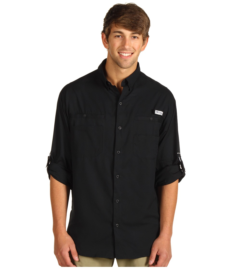 Columbia - Tamiamitm II L/S (Black) Mens Long Sleeve Button Up