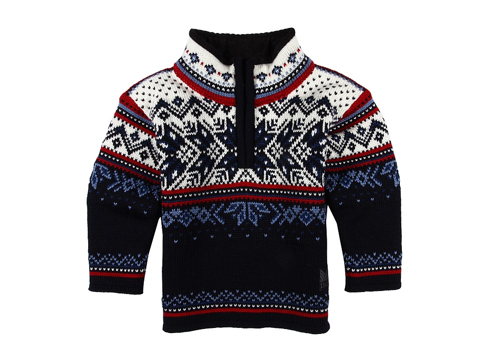 Dale of Norway - Vail (Toddler/Little Kids/Big Kids) (Midnight Navy/Red Rose/Off-White/Indigo/China Blue) Sweater