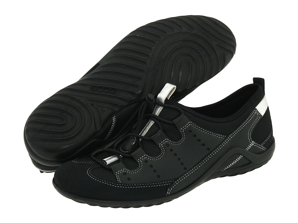 ECCO Vibration II Toggle Black/Black Fabric Womens Lace up casual Shoes