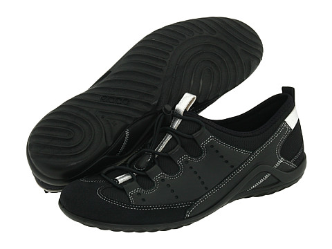 ECCO - Vibration II Toggle (Black/Black Fabric) - Footwear