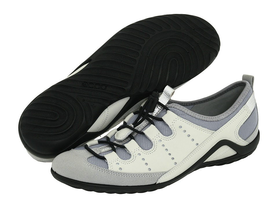 ECCO Vibration II Toggle Silver/Shadow Metallic/Shadow White Womens Lace up casual Shoes
