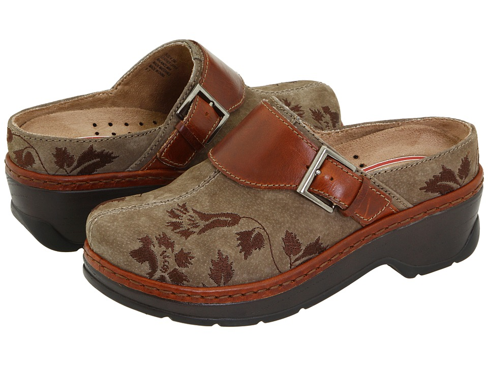 Klogs Footwear Austin (Taupe Suede Tapestry) Women's Clogs