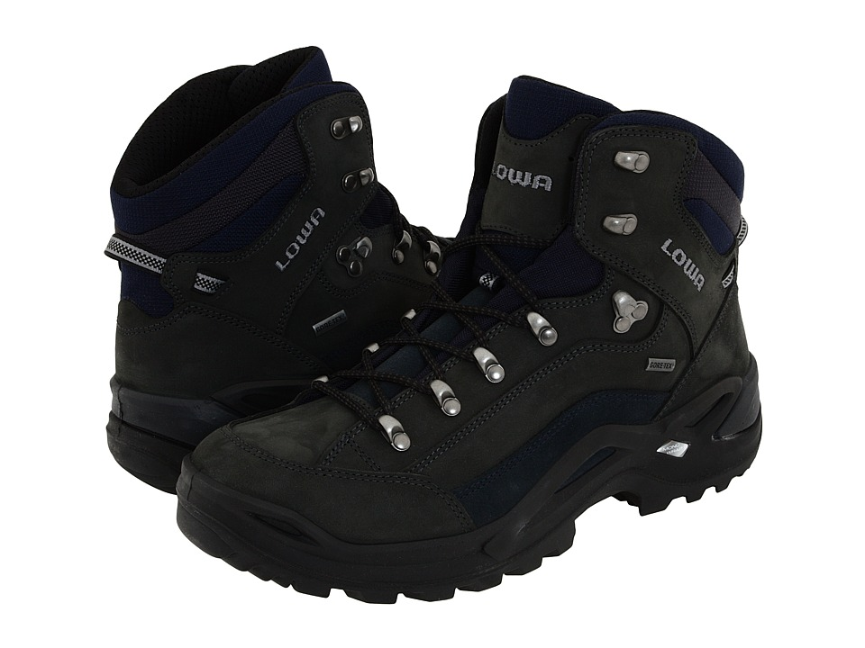 Lowa - Renegade GTX(r) Mid (Dark Grey/Navy) Mens Hiking Boots