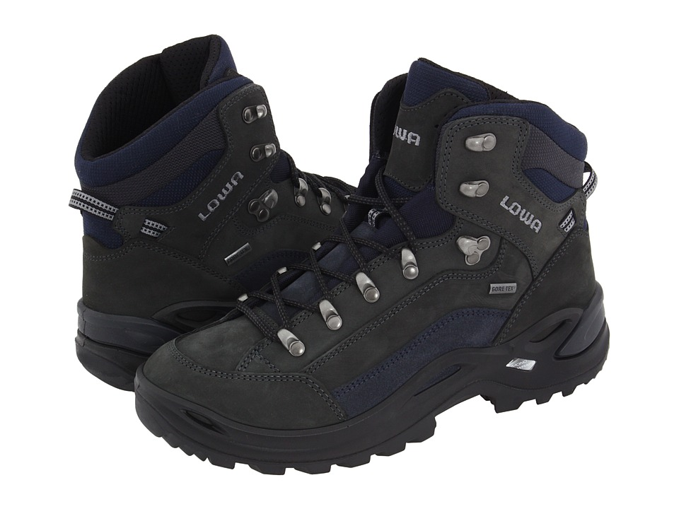 Lowa Renegade GTX(r) Mid (Dark Grey Navy) Women s Hiking Boots 840054151149 7e1ebe57563