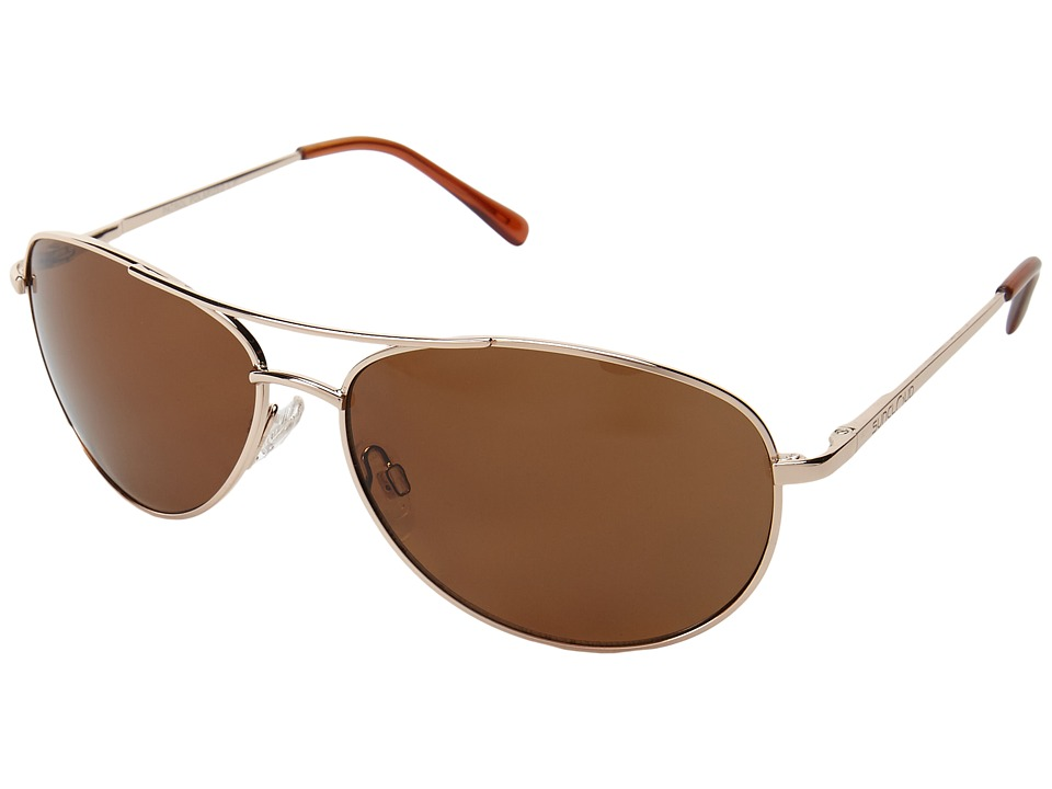 SunCloud Polarized Optics Patrol Gold/Brown Lens Sport Sunglasses