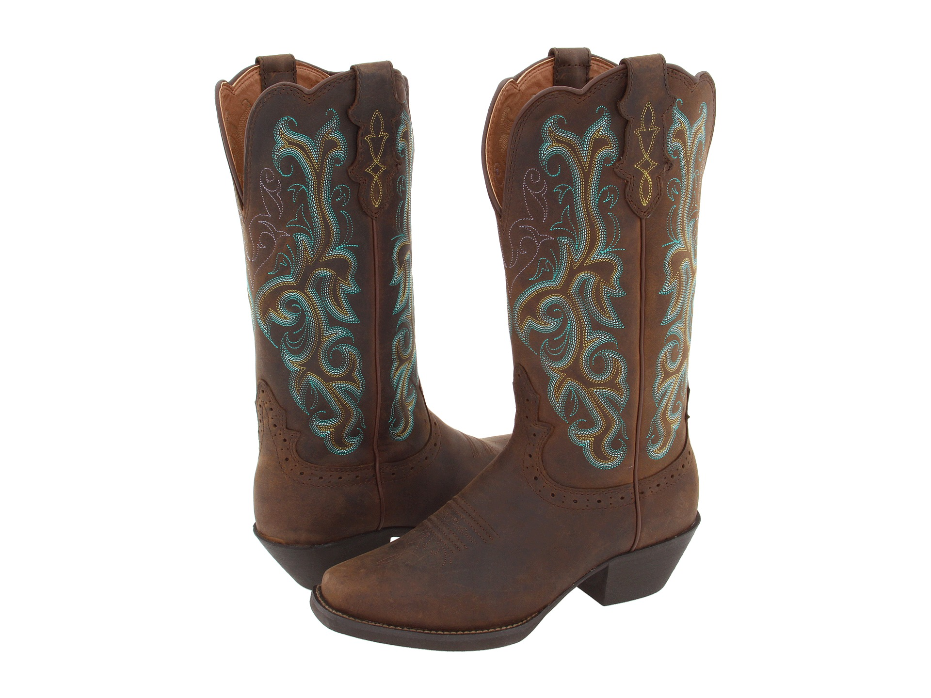 P Womens Turquoise Western Boots