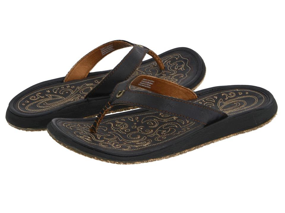 OluKai Paniolo (Black/Black) Sandals