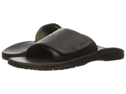 OluKai Ohana Leather Slide Black/Black - Zappos.com Free Shipping BOTH Ways