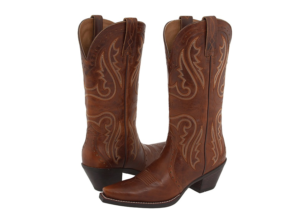 Ariat - Heritage Western X Toe (Vintage Carmel) Cowboy Boots