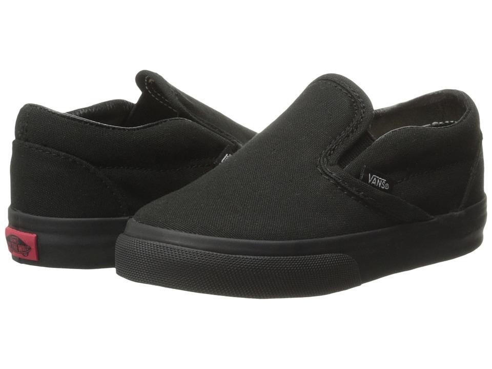 Vans Kids Classic Slip-On Core (Toddler) (Black/Black) Kids Shoes
