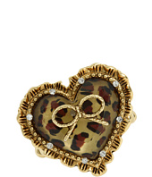 Betsey Johnson - Dot Dot Dot Heart W/ Bow Ring