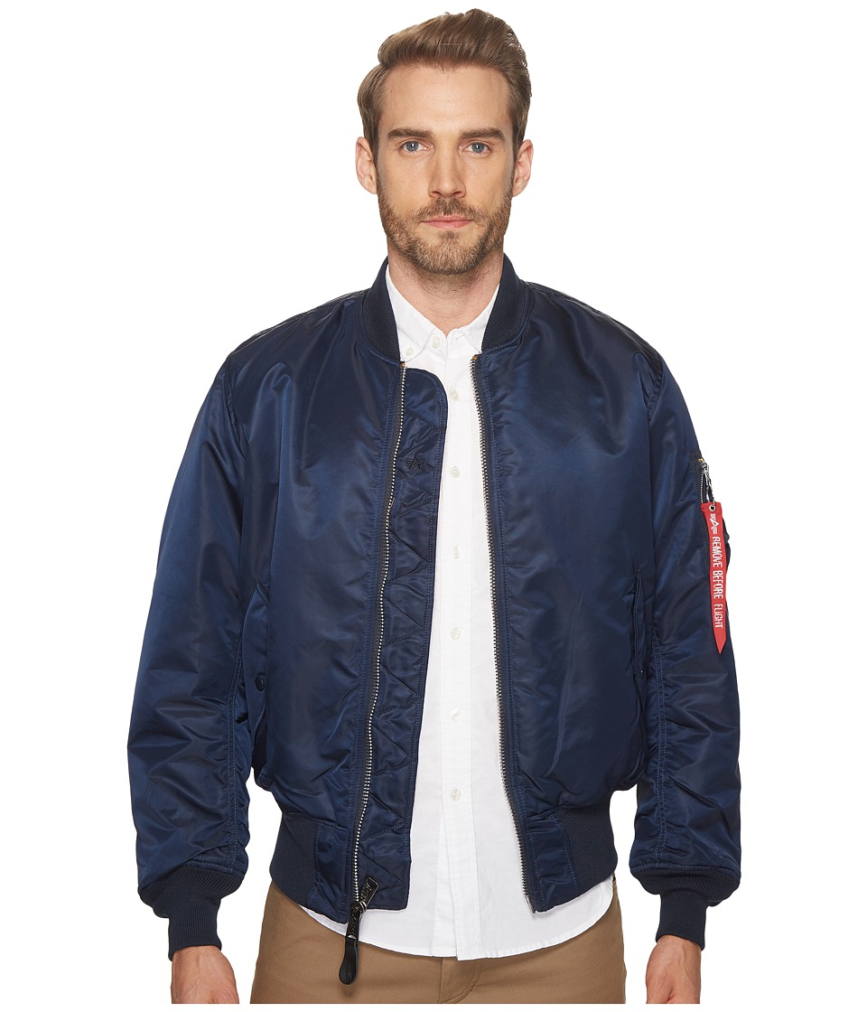 Alpha Industries - Alpha MA-1 Flight Jacket (Replica Blue) Mens Jacket
