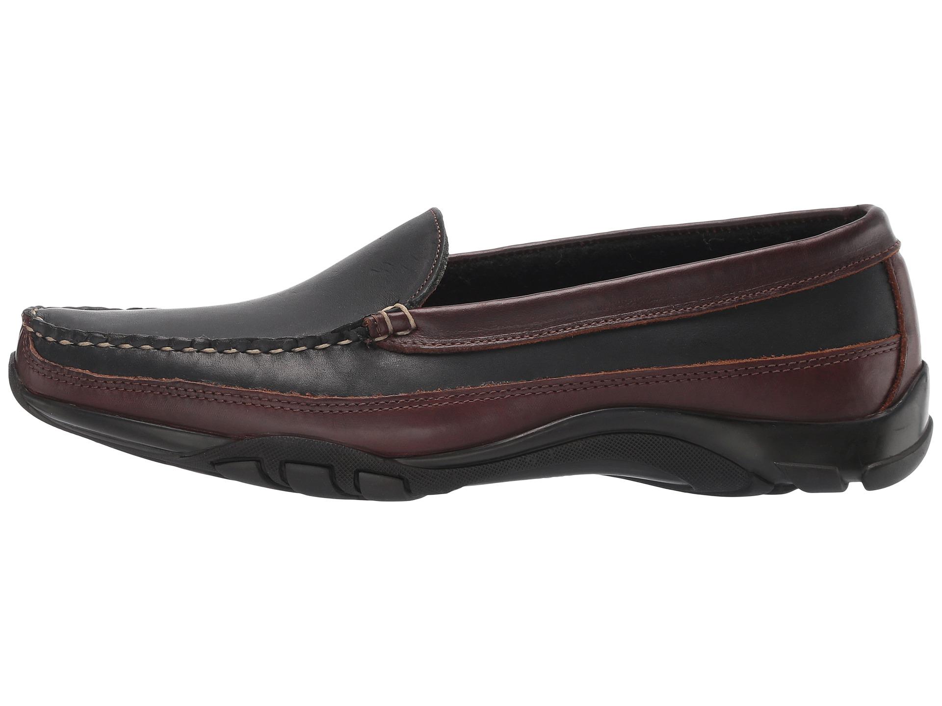 Allen edmonds boulder black saddle leather brown trim zappos com