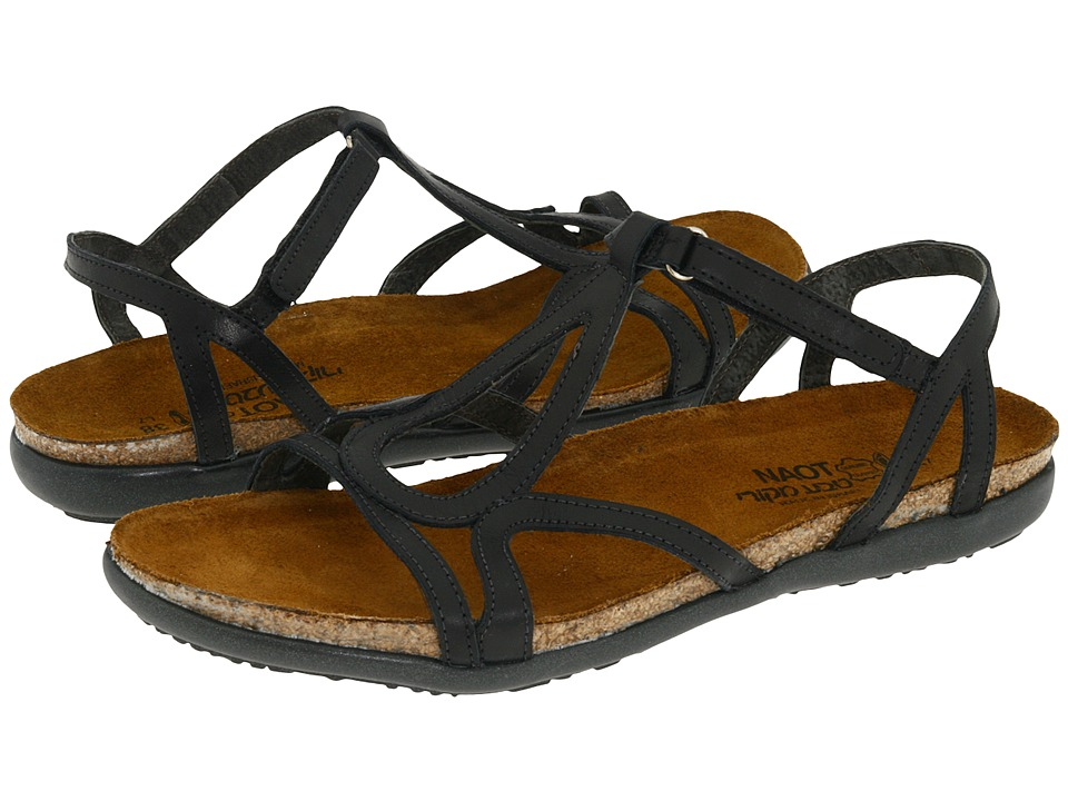 Naot Footwear Dorith Black Raven Leather Womens Sandals
