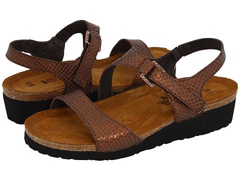 Naot Footwear Pamela - Brown Lizard Leather