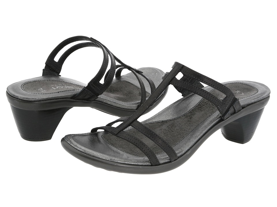 Naot Loop (Black Raven Leather) Sandals