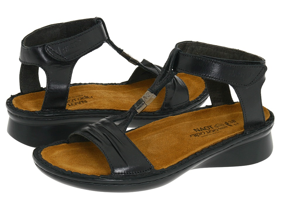 Naot - Cymbal (Black Madras Leather) Women's Sandals