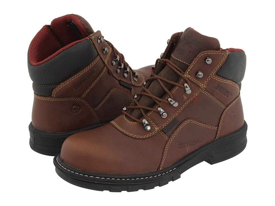 Wolverine Meteor 6 Waterproof Steel Toe (Brown) Men's Wor...