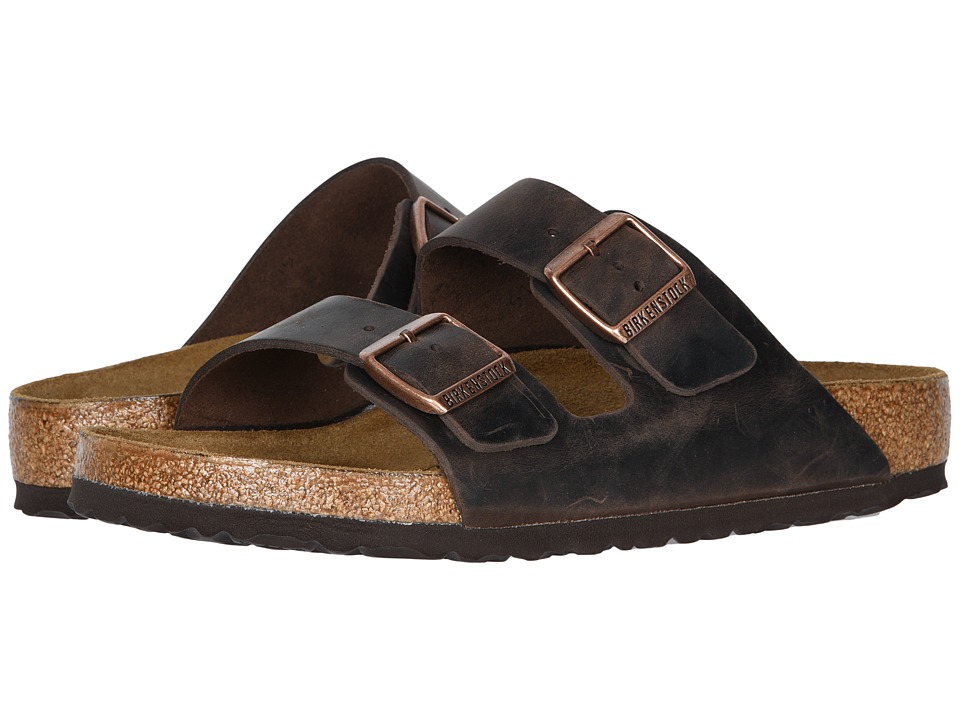 Birkenstock Arizona Oiled Leather Unisex Habana Oiled Leather Sandals