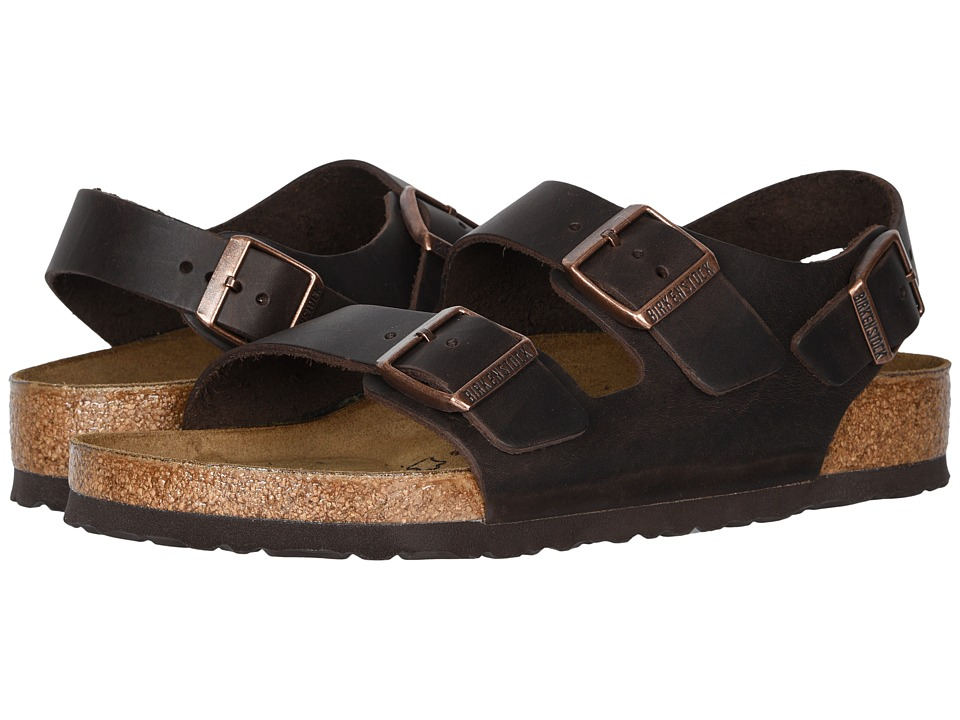 Birkenstock Milano Oiled Leather (Unisex) (Habana Oiled Leather) Sandals