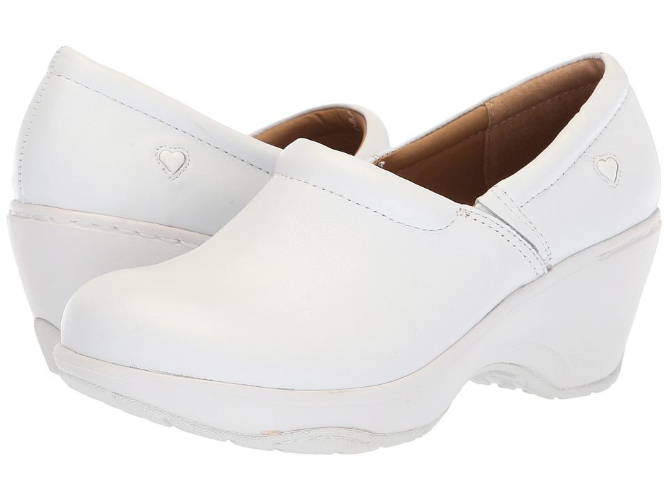 Nurse Mates Bryar White Womens Clog Shoes