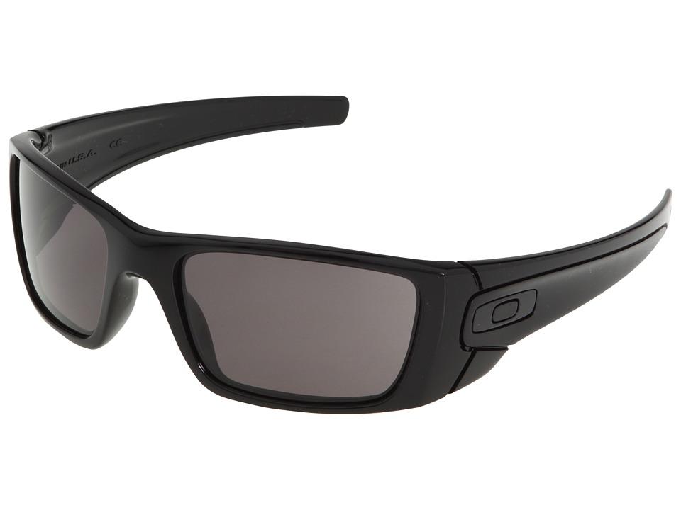 Oakley - Fuel Cell (Polished Black/Matte Black/Warm Grey Lens) Sport Sunglasses