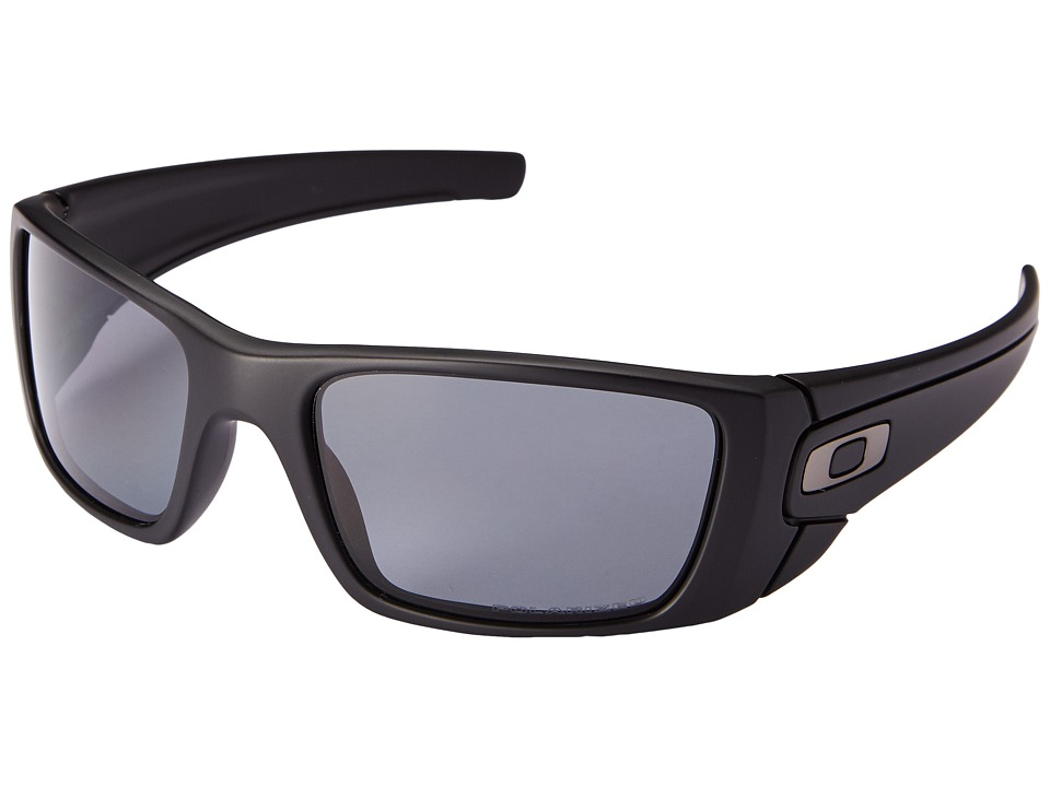 Oakley - Fuel Celltm Polarized (Matte Black/Matte Black/Grey Polarized) Sport Sunglasses