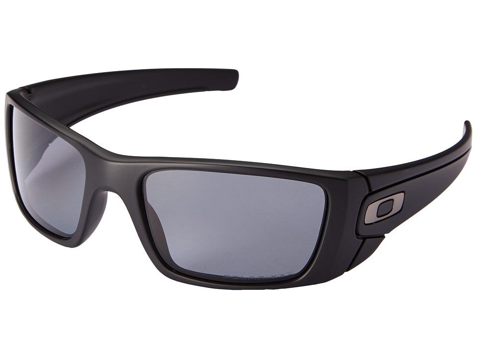 Oakley Fuel Celltm Polarized (Matte Black/Matte Black/Grey Polarized) Sport Sunglasses