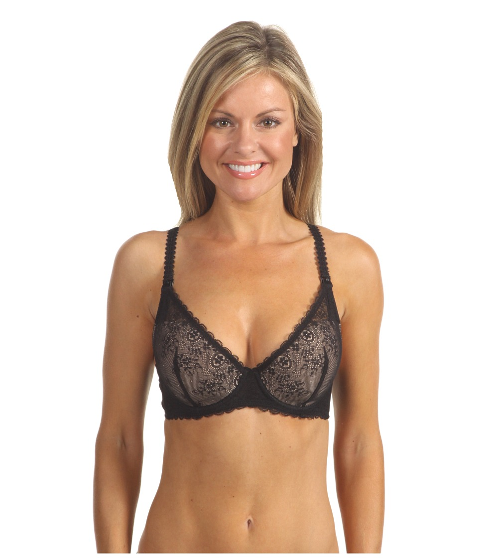 Le Mystere - Sexy Mama Underwire Nursing Bra 163 (Black/Natural) Womens Bra