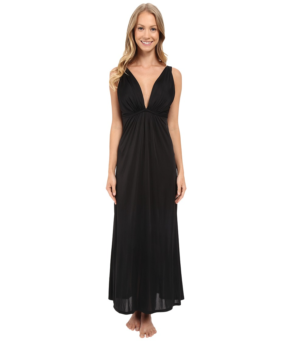 Natori Aphrodite Tank Gown Black Womens Pajama