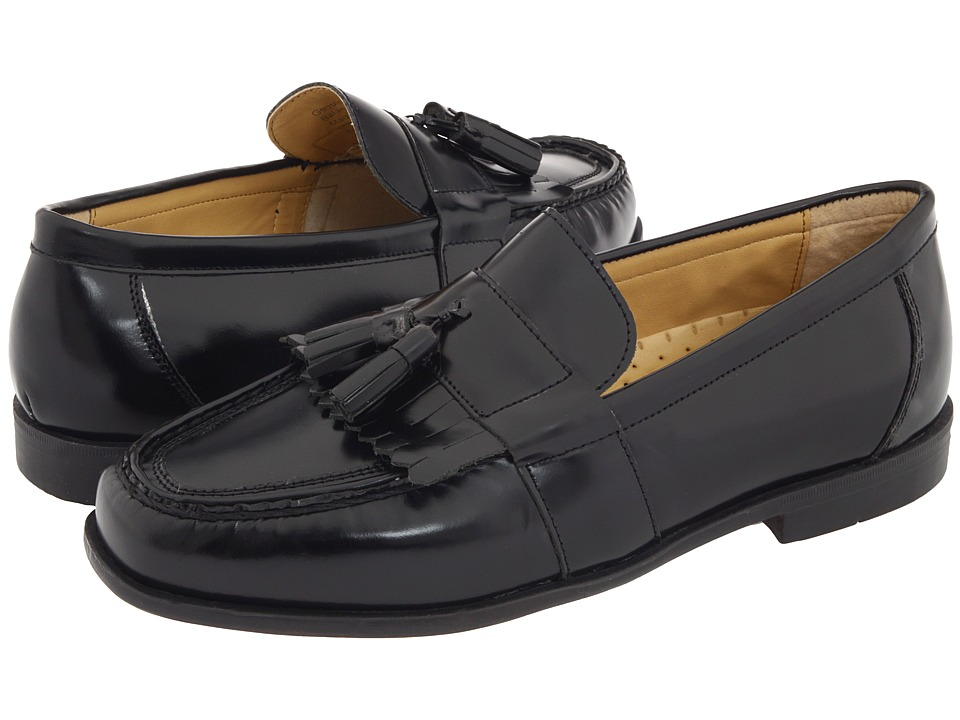 Nunn Bush - Keaton Moc Toe Kiltie Tassel Loafer (Black Smooth Leather) Mens Slip-on Dress Shoes