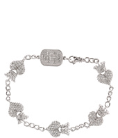 King Baby Studio - CZ Pavé Crowned Heart Motif Bracelet