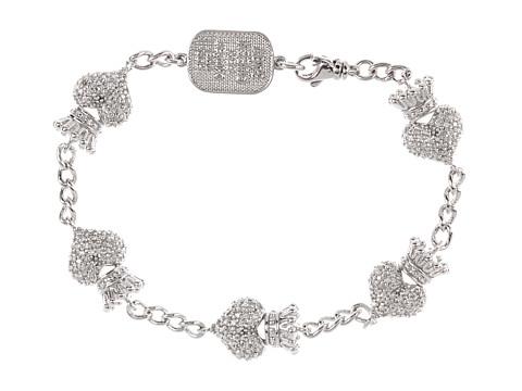 King Baby Studio CZ Pavé Crowned Heart Motif Bracelet