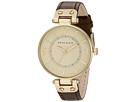 Anne Klein - 109168IVBN Round Dial Leather Strap Watch