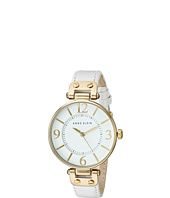 Anne Klein - 109168WTWT Round Dial Leather Strap Watch