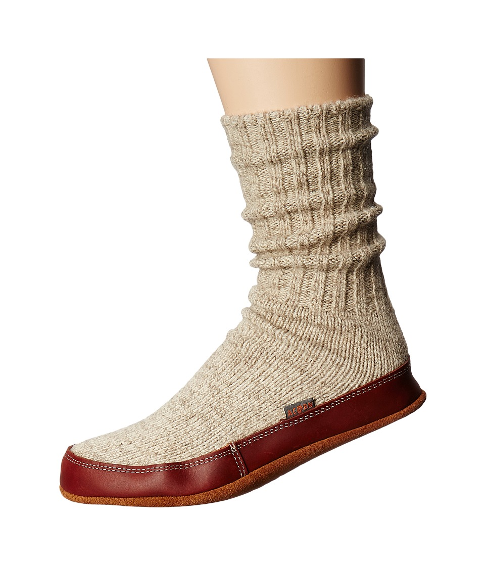 Acorn Slipper Sock (Grey Ragg Wool) Shoes