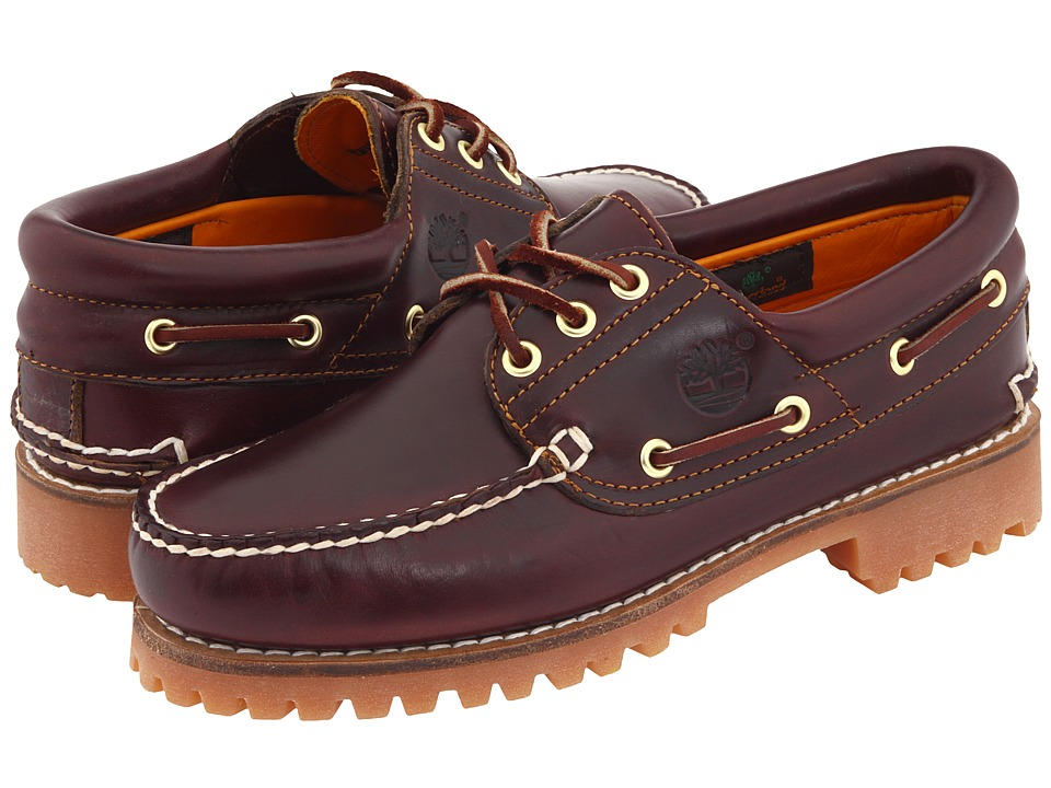 Timberland - Traditional Handsewn 3-Eyelet Classic Lug (Burgundy Smooth Leather) Men