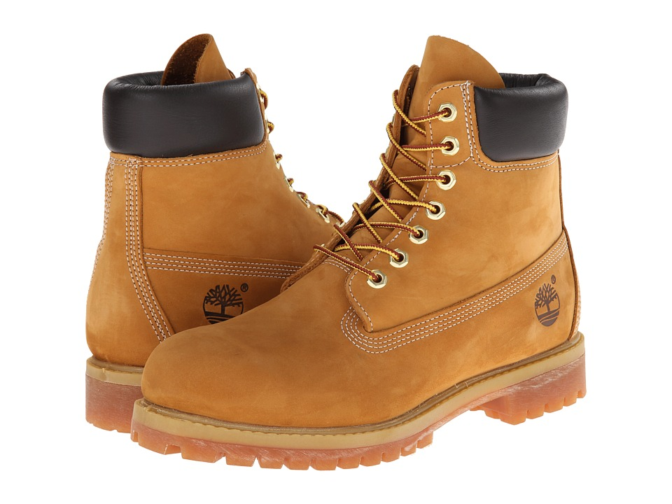 Timberland Classic 6 Premium Boot (Wheat Nubuck Leather) Men