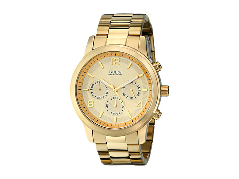 GUESS U15061G2 Chronograph Stainless Steel Watch - Gold/Gold Dial