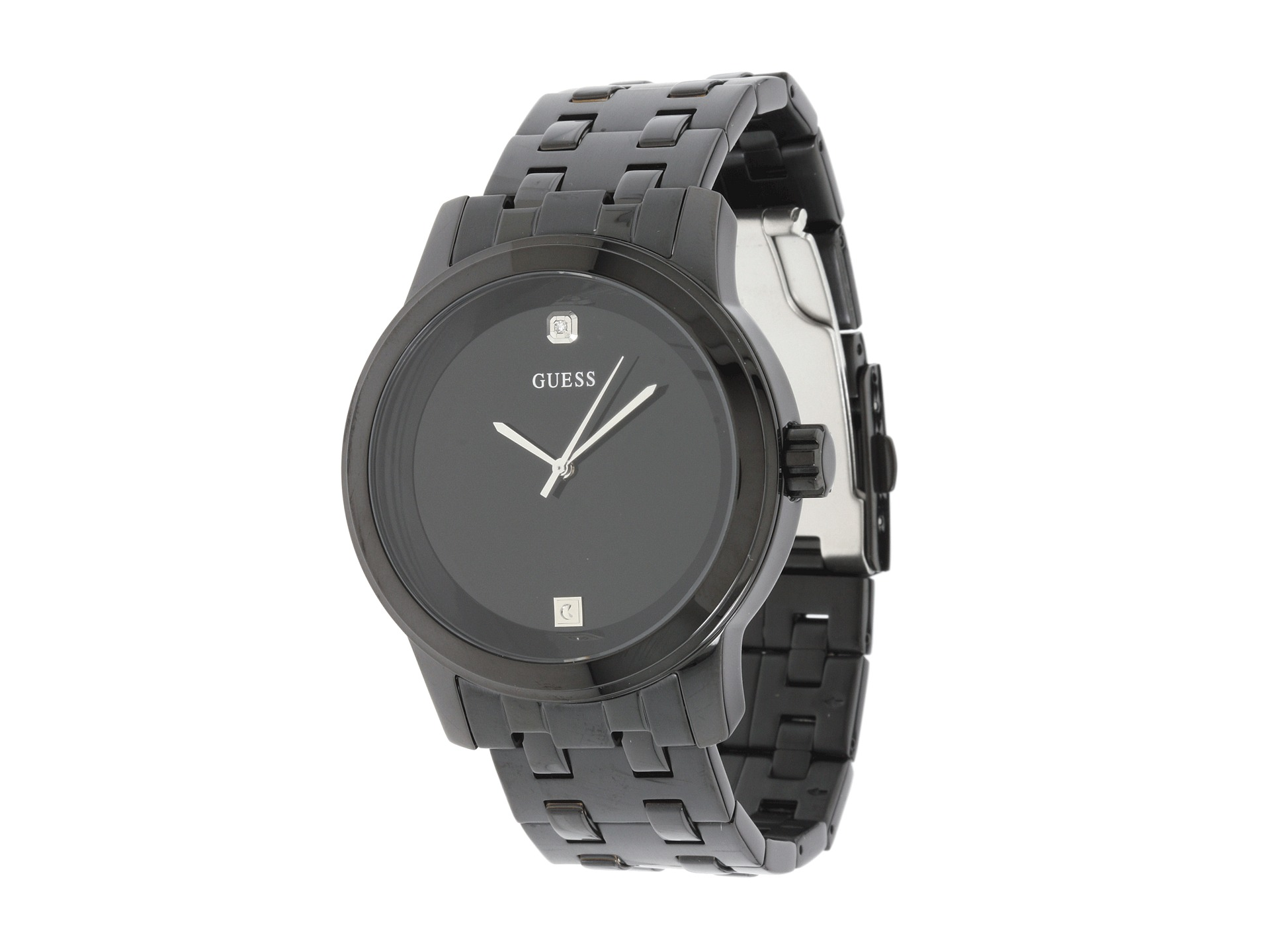 guess watches men shipped at zappos guess u12604g1 round diamond watch