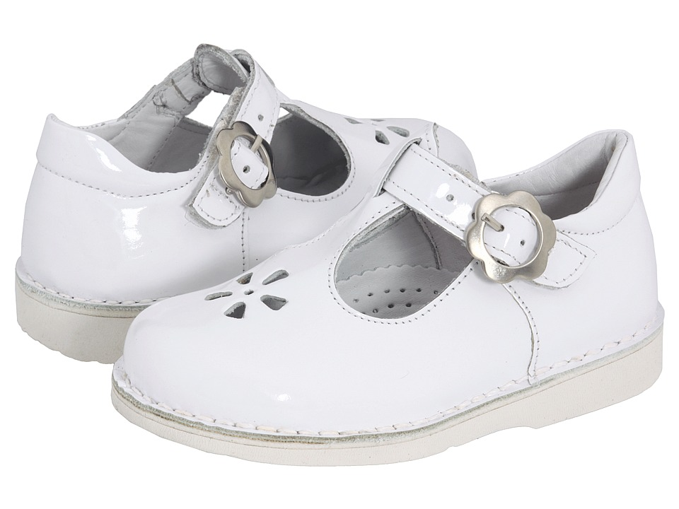 Kid Express - Molly (Toddler/Little Kid/Big Kid) (White Patent) Girls Shoes