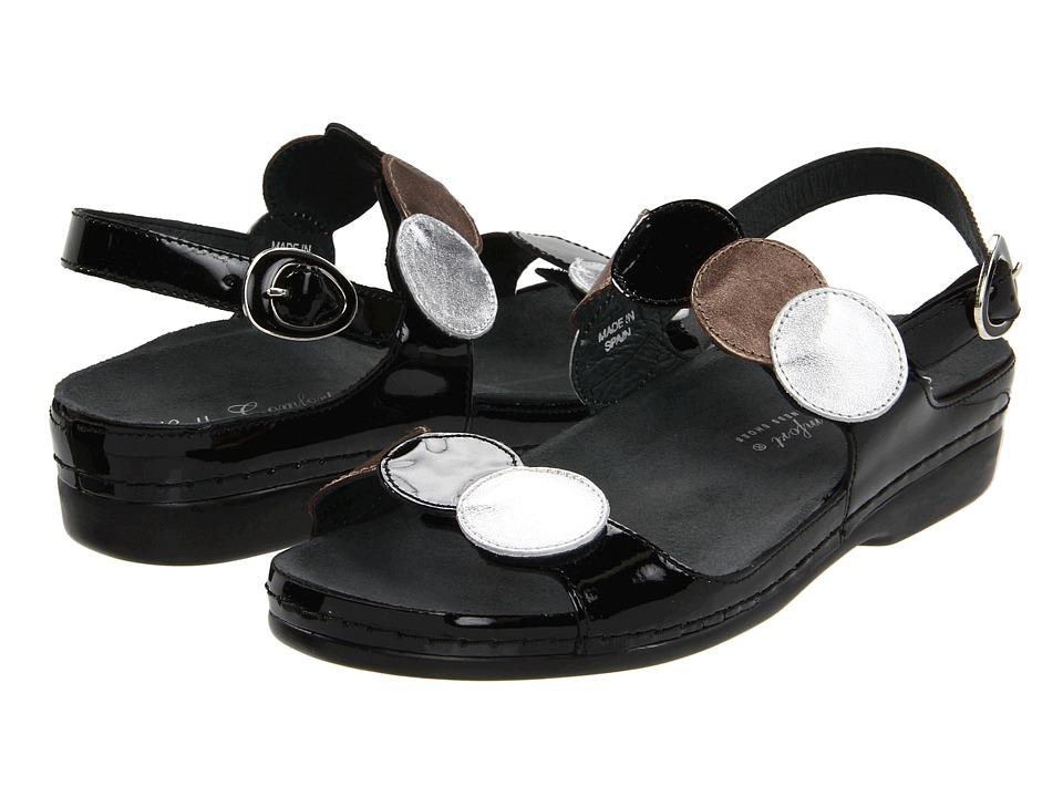 Helle Comfort Tula Black/Metallic Womens Sandals