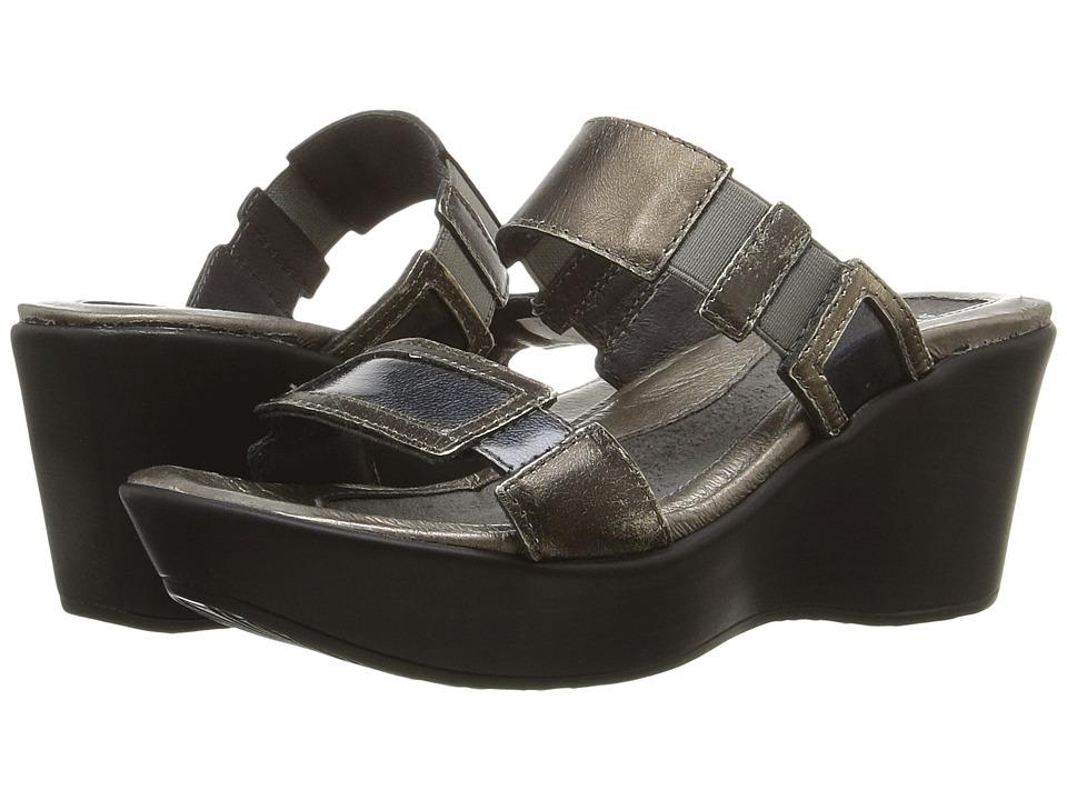Naot Footwear Treasure (Metal Grey Combination) Wedge Shoes