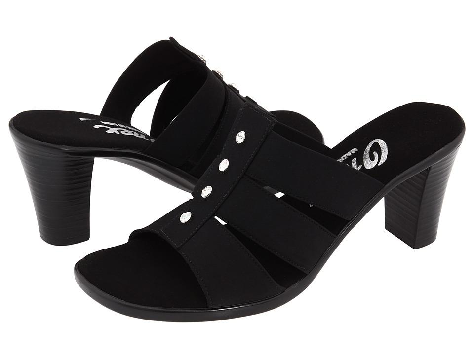 Onex Aimee Black Elastic Womens Sandals