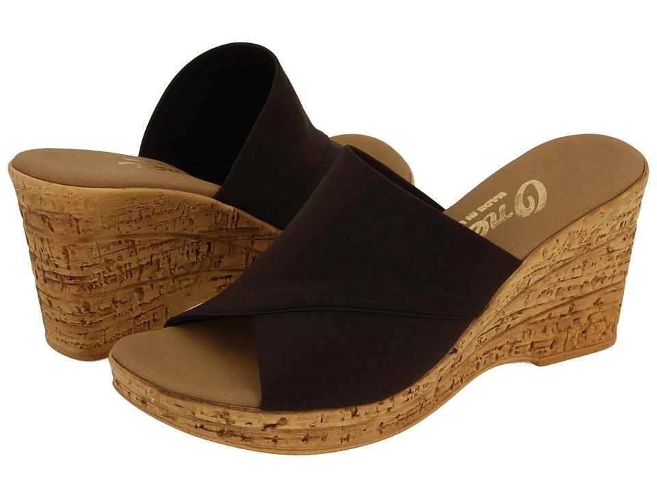 Onex Christina (Chocolate) Wedge Shoes