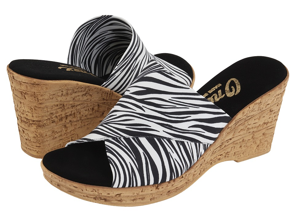 Onex Christina (White Zebra) Wedge Shoes